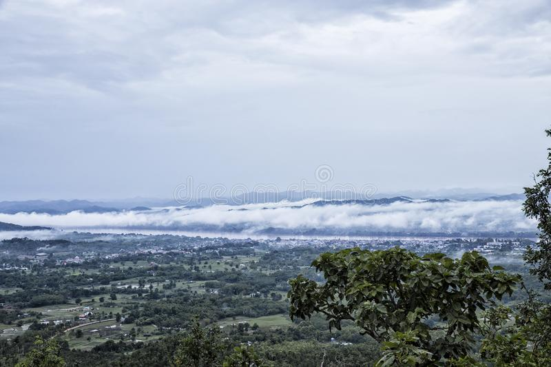 View of Chaing Khan from Phu Thok. This is View of Chaing Khan from Phu Thok mountain royalty free stock image