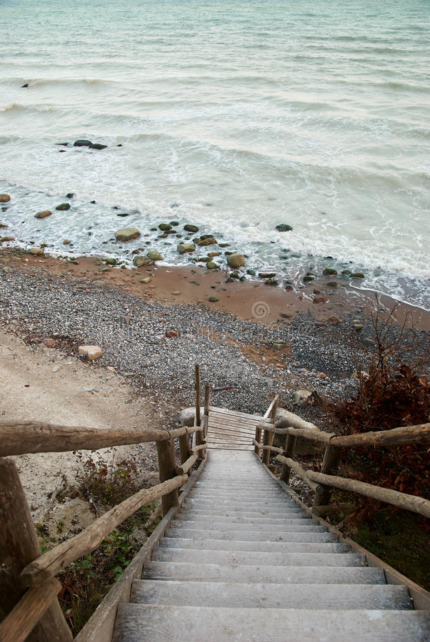 View on the chalky sea-water royalty free stock image