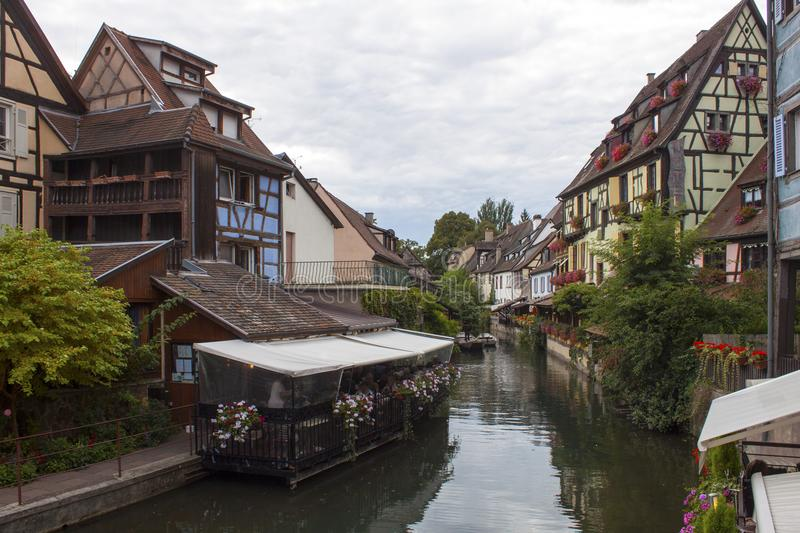 Download Channel in Colmar France editorial stock photo. Image of blue - 110575843