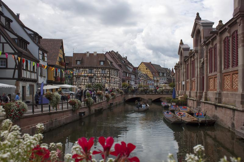 Download Channel in Colmar France stock image. Image of architecture - 110575881