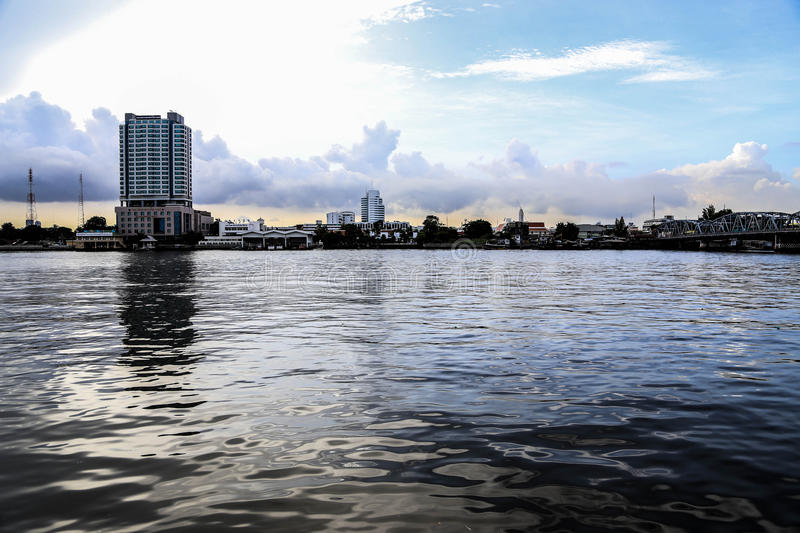 View of Chao Phraya River. Tt is a beautiful and unforgettable place royalty free stock images