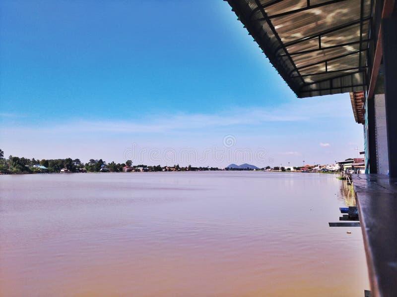 View of chaow pra ya river royalty free stock image