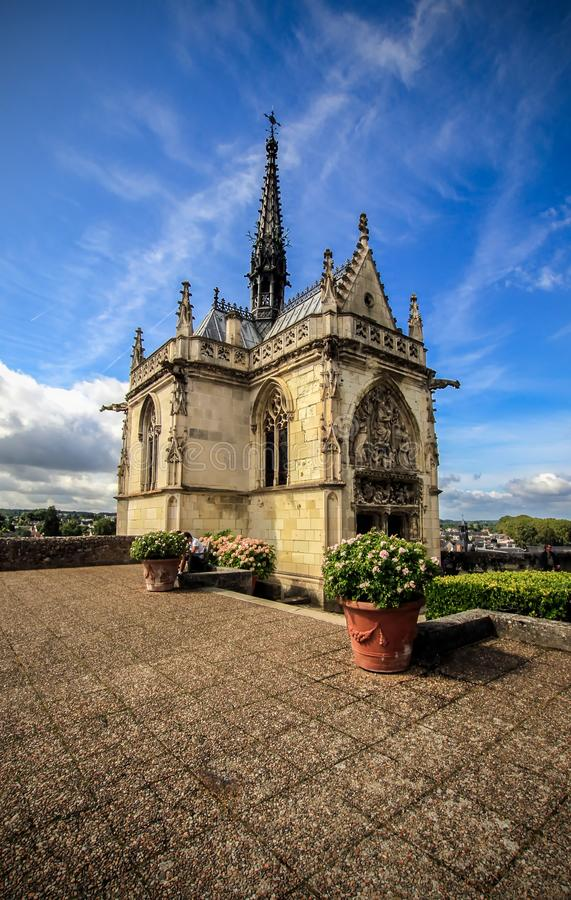 View of chapelle Saint-Hubert, France. View of chapelle Saint-Hubert, Amboise, France royalty free stock photo
