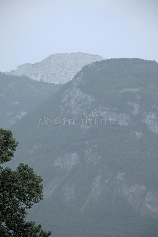 View of the Chartreuse mountains in the Alps, Isere, France stock photography