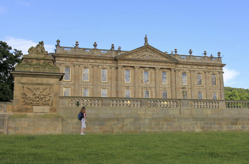 A View Of Chatsworth House, Great Britain Editorial Photography