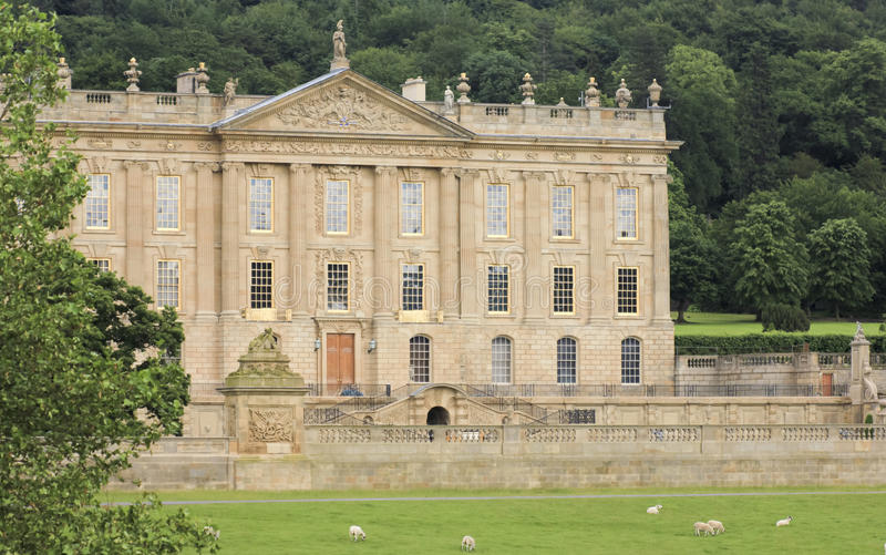 Download A View Of Chatsworth House, Great Britain Stock Photo - Image: 26089318