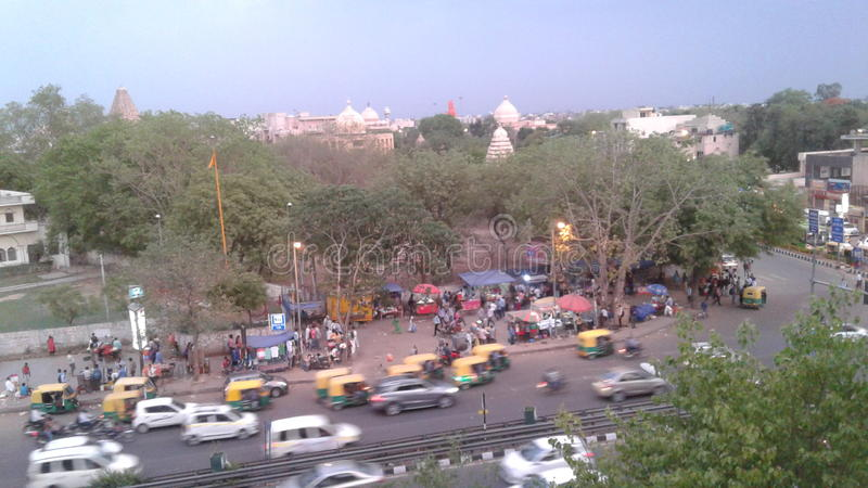 View from chattarpur metro station stock photos