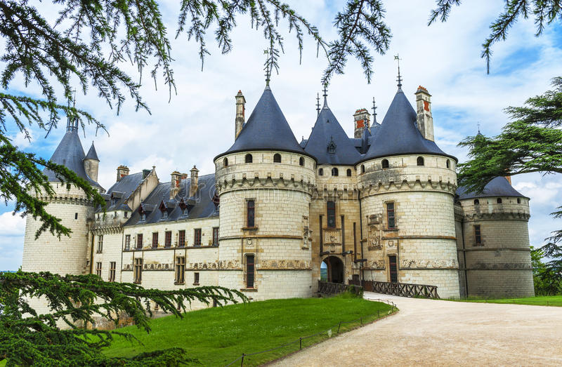 View on Chaumont castle royalty free stock photo