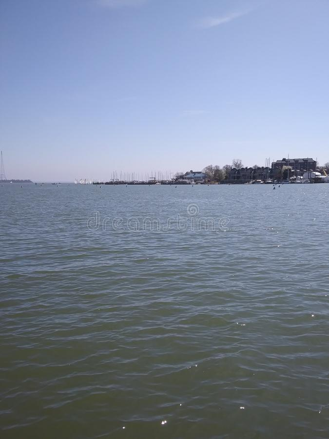 View of the Chesapeake Bay from boat royalty free stock photo
