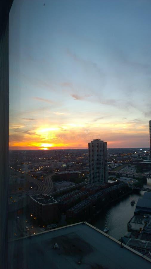 View of Chicago skyline stock photos