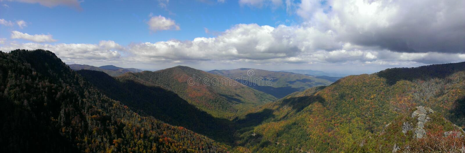View from Chimney Tops in the Great Smoky Mountains National Park royalty free stock photo