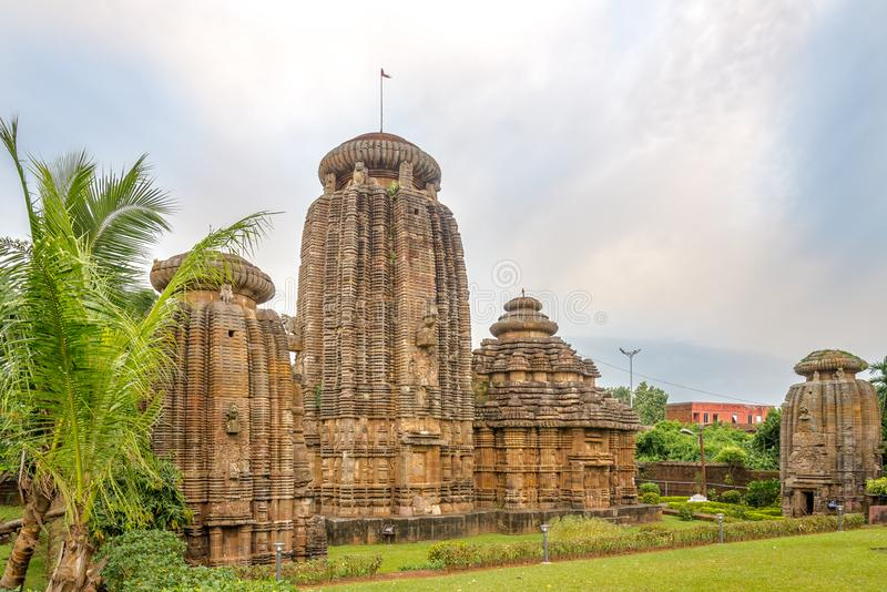 View at the Chitrakarini Temple Complex in Bhubaneswar - Odisha, India. View at the Chitrakarini Temple Complex in Bhubaneswar - India, Odisha royalty free stock photography