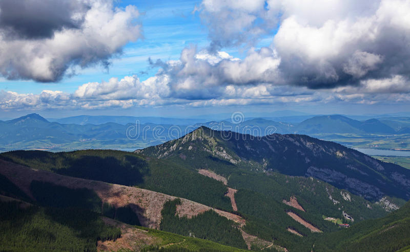 View from Chopok stock images