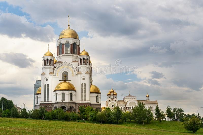 Church on Blood in Honour in Yekaterinburg. Russia. View of Church on Blood in Honour of All Saints in Yekaterinburg. Russia stock image