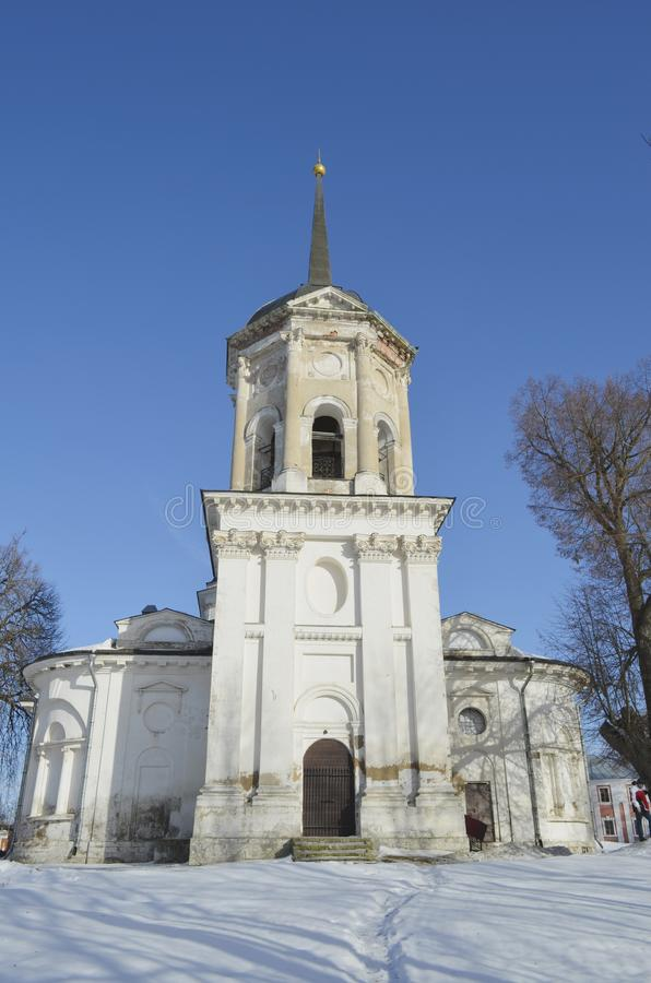 The Church of John the Baptist in the estate in Yaropolets near Volokolamsk, owned by Zagryazhsky, which Pushkin visited twice. View of the Church of John the stock photo