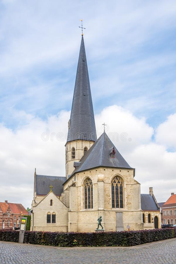 View at the church of Saint Peter in Bazel - Belgium. View at the church of Saint Peter in Bazel, Belgium stock images