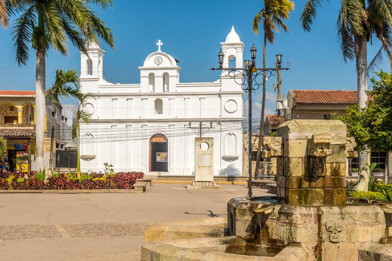 View at the church of San Jose Obrero in Copan Ruinas - Honduras stock photography