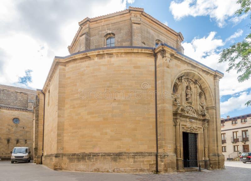 View at the Church of San Juan in Laguardia, Spain stock photos