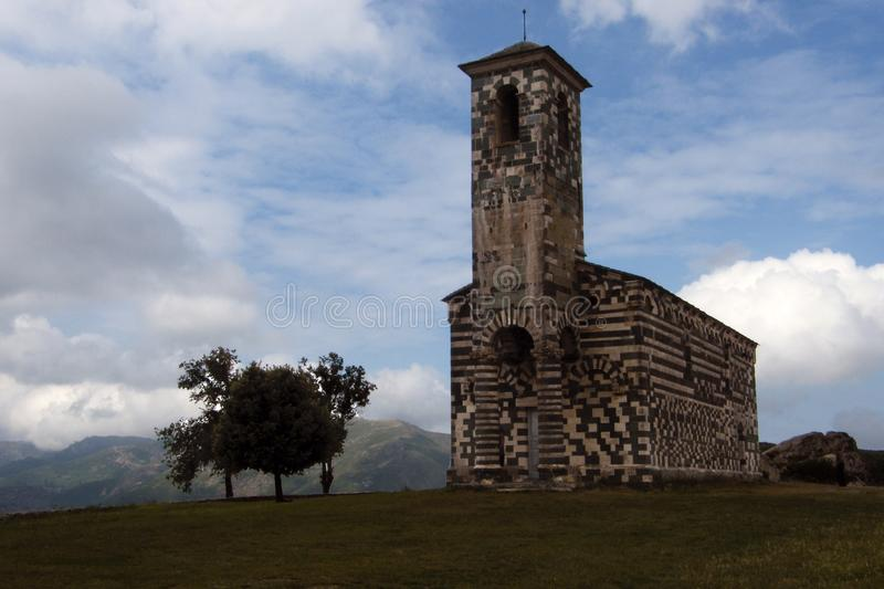 View of the Church of San Michele de Murato royalty free stock photo