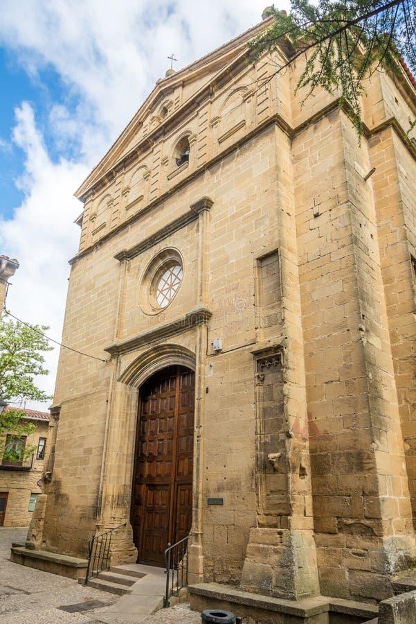 View at the Church of Santa Maria in Laguardia, Spain stock image