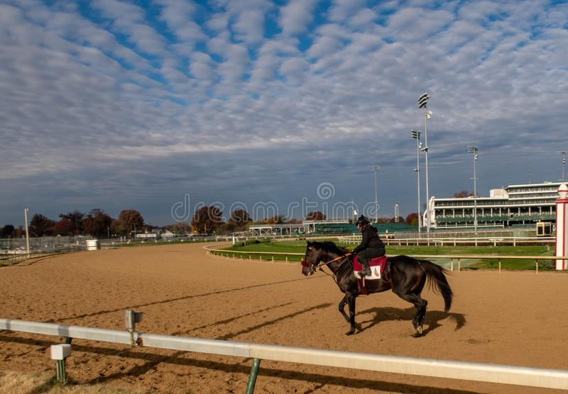 View of Churchill Downs. A early morning view of the track at Churchill Downs in Louisville, Kentucky royalty free stock photo