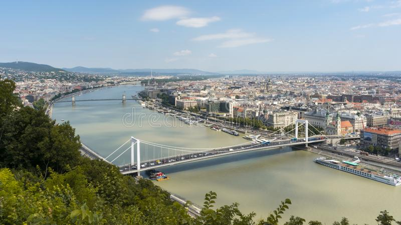 View from the Citadel lookout in Budapest stock images