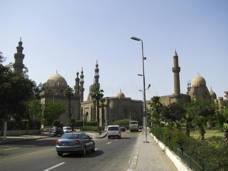 View from the Citadel of Old Cairo. Including the ancient Al-Azhar University and mosque royalty free stock photos