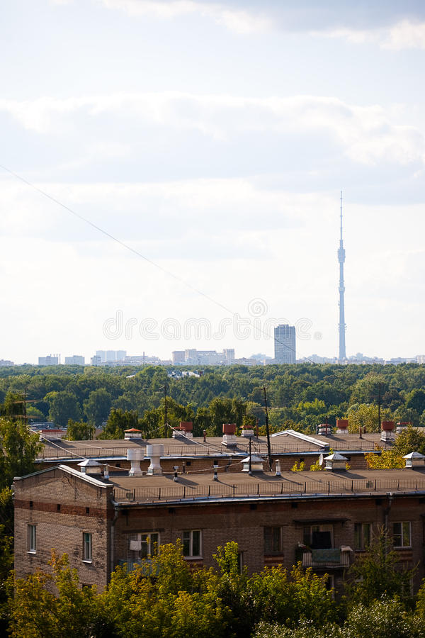 View on the city stock images