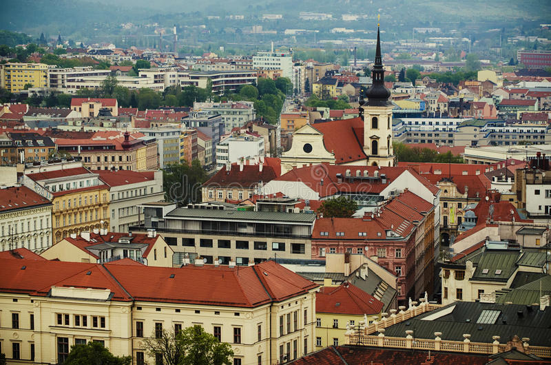 View of the city Brno, Czech Republic stock photography