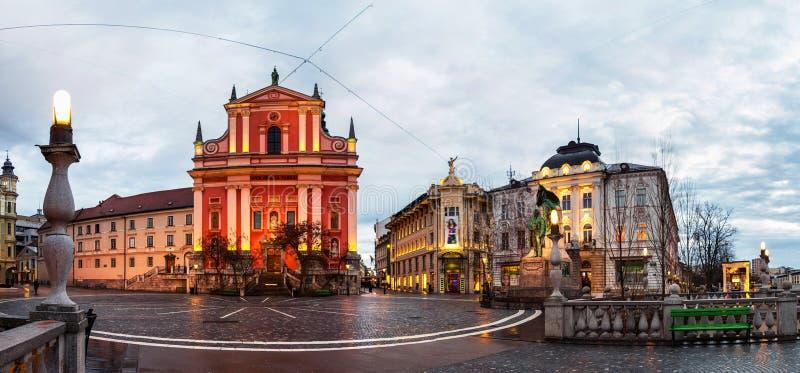 View of the city center in Ljubljana, Slovenia royalty free stock image