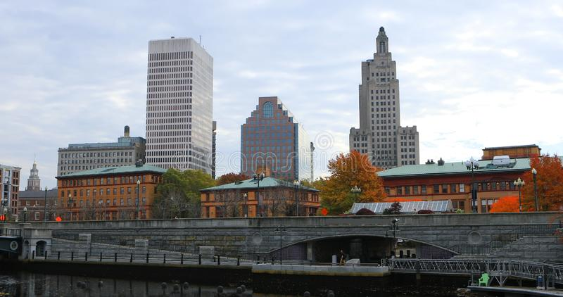View of city center of Providence, Rhode Island. A View of city center of Providence, Rhode Island royalty free stock photo