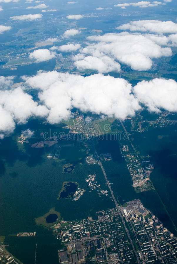 Download View At City Through Clouds Stock Photo - Image: 16139008
