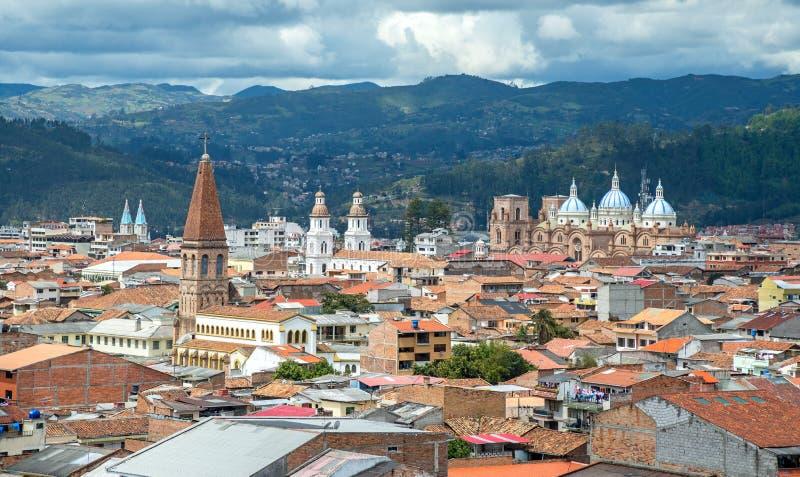 View of the city of Cuenca, Ecuador stock photography