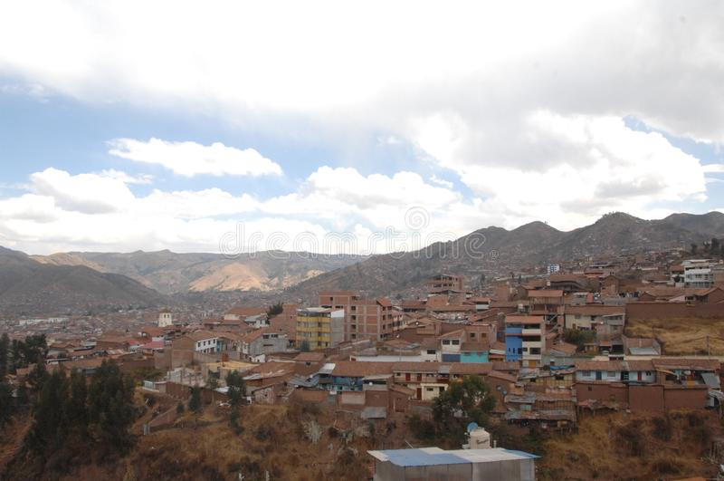 View Of The City Of Cusco, Peru. View of the city and mountains of Cusco, Peru stock photography