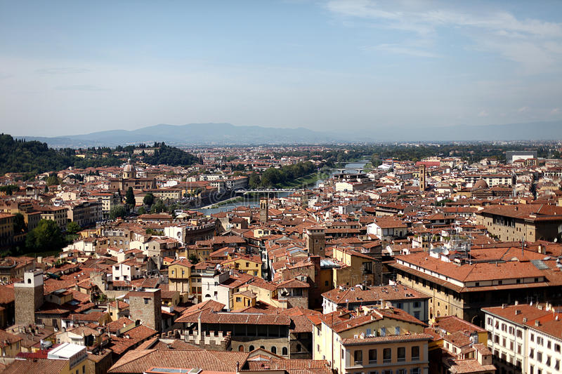 View of the city Florence stock photography