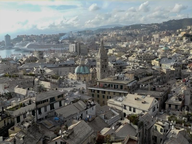 View of the city of Genoa stock photography