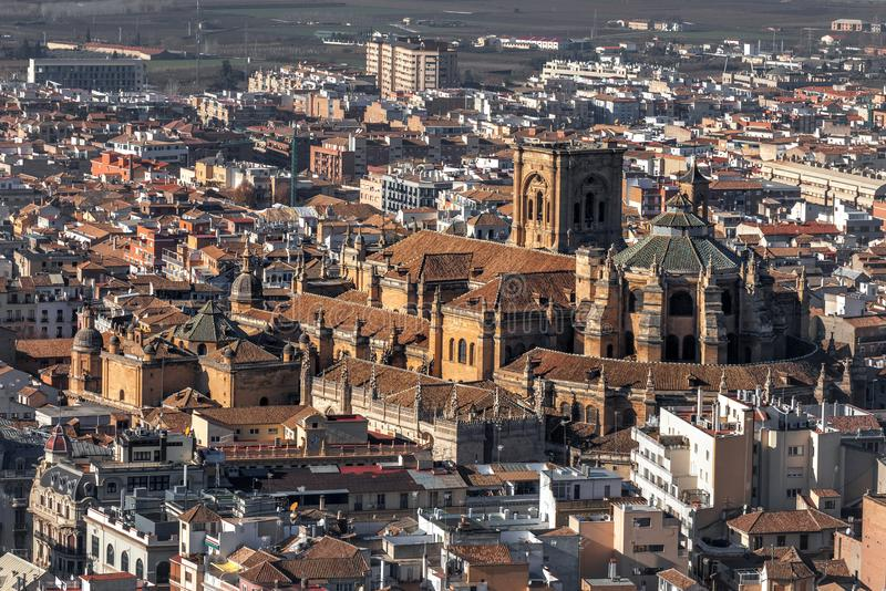 View of the city of Granada stock images