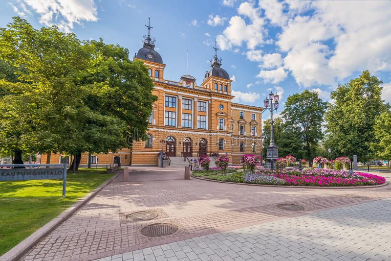 View of the city hall.City of Oulu.Finland. View of the city hall. City of Oulu. Finland royalty free stock images