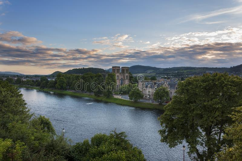 Download View Of The City Of Inverness From The Banks Of The Ness River In Scotland, United Kingdom Editorial Image - Image of ness, scottish: 101021790