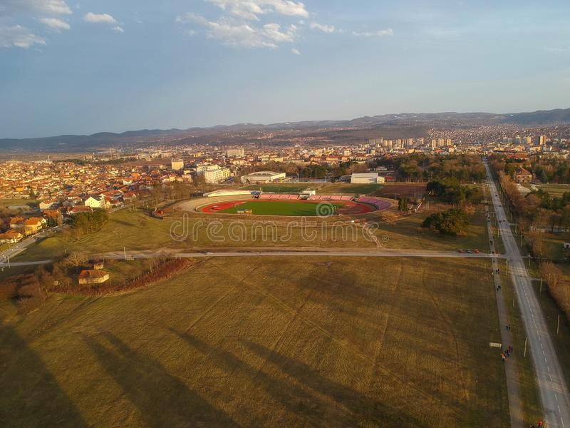 The city of Kragujevac royalty free stock photography