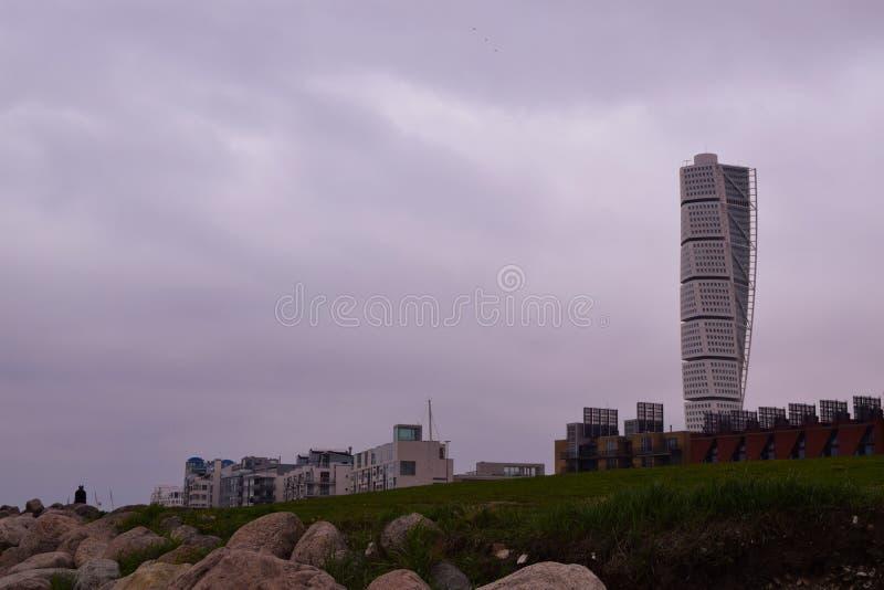 View of city Malmo modern bulding royalty free stock photos