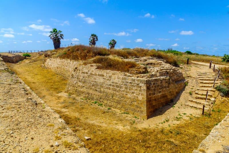 City moat crusader era, in Apollonia royalty free stock photo