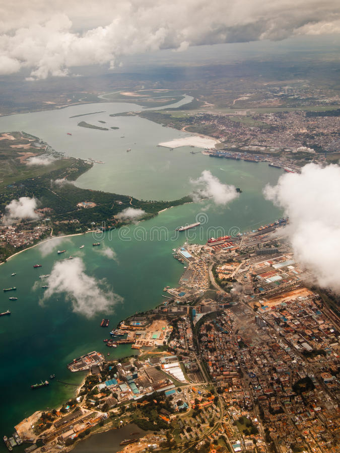 Download View Of The City Of Mombasa From Above Stock Photos - Image: 34144983