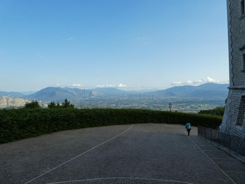 View of the city of Monte Cassino stock photography