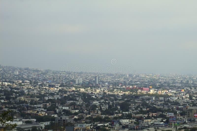 View of the city of Monterrey Mexico royalty free stock photos