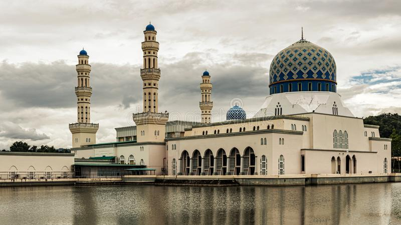 View of the city Mosque in Kota Kinabalu, Sabah, Malaysia. stock photography