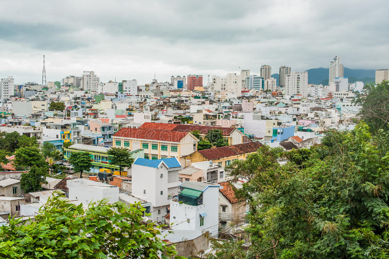 View of the city of Nha Trang Vietnam from a height. Asia Travel concept stock photos