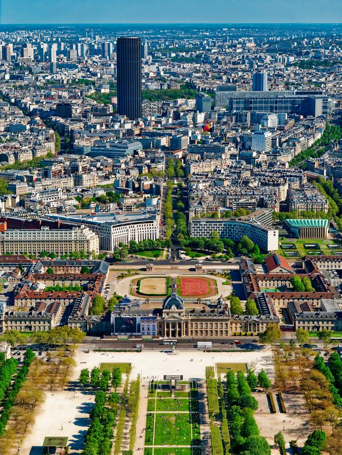 View of City of Paris in France from high.  royalty free stock photography