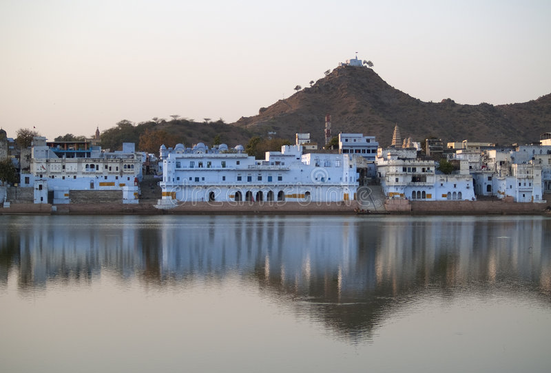Download View Of The City Of Pushkar Stock Image - Image: 9076057