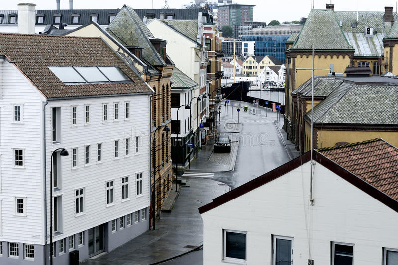 View of the city after the rain. Stavanger, Norway stock photo